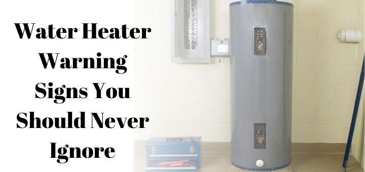 signs water heater is going out